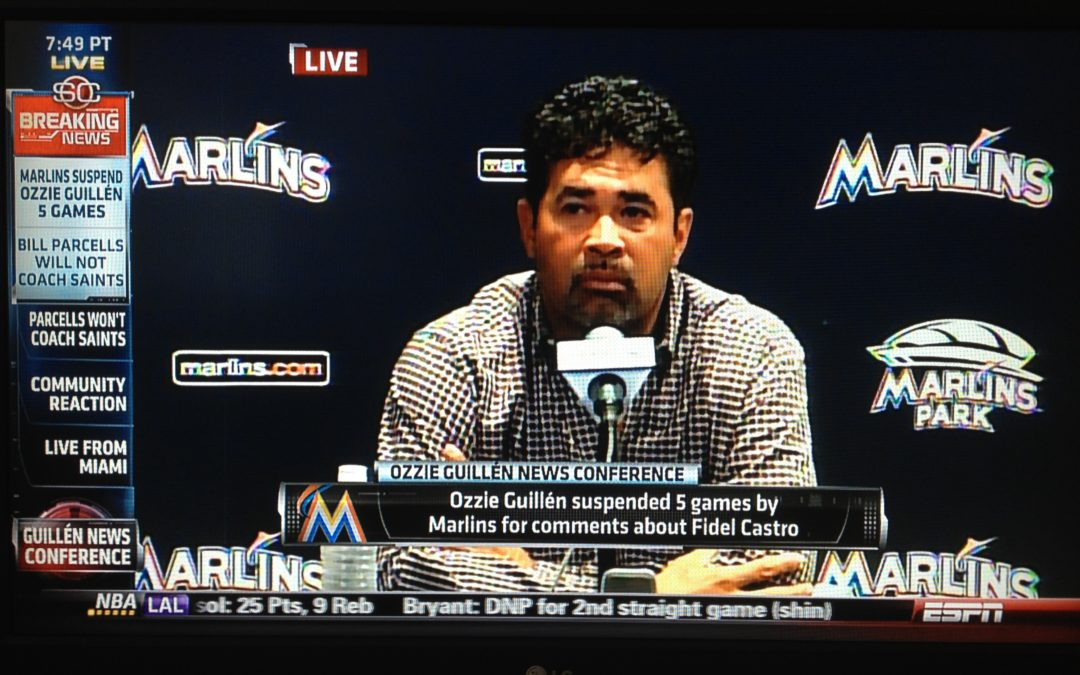 Ozzie (Guillen) Loves Castro not Harriet? Ozzie Apologizes, but Is it Enough?